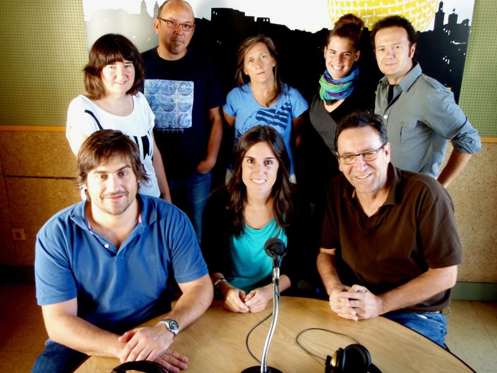 The team at Euskalerria Irratia radio station in Pamplona